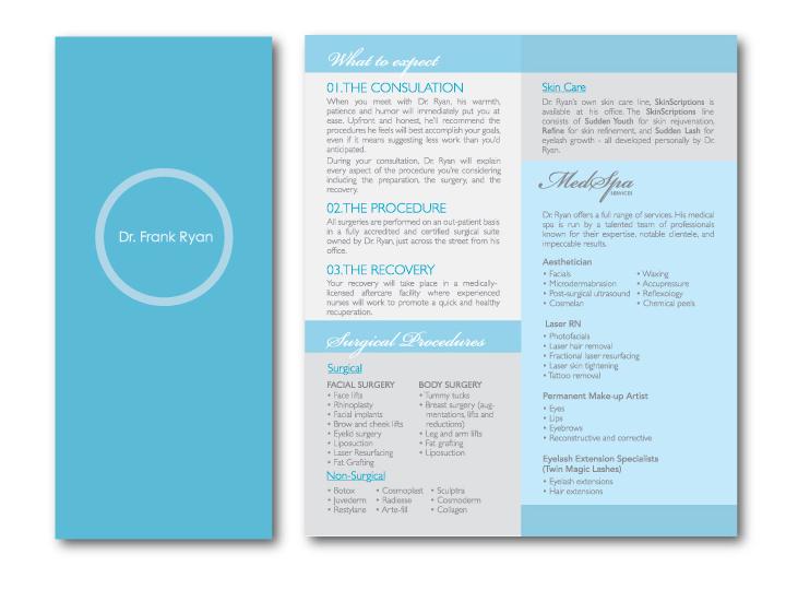 Dr. Frank Ryan logo & brochure