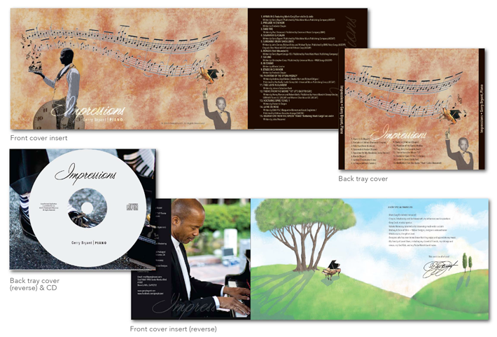 Gerry Bryant's piano music CD package design
