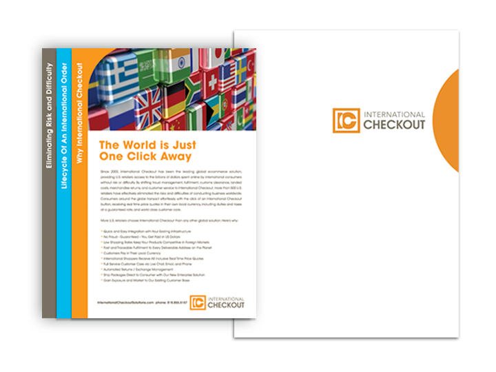 International Checkout presentation folder and inserts