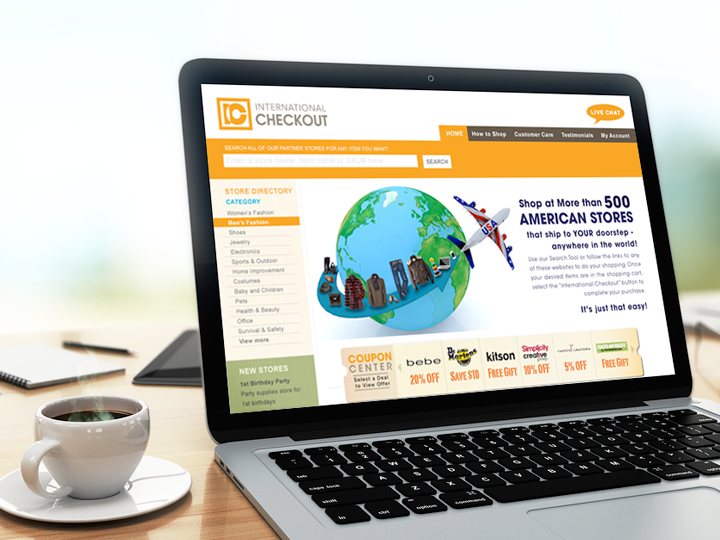 International Checkout website design