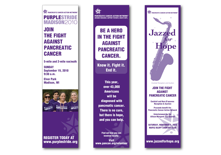 Pancreatic Cancer Action Network fundraising ads