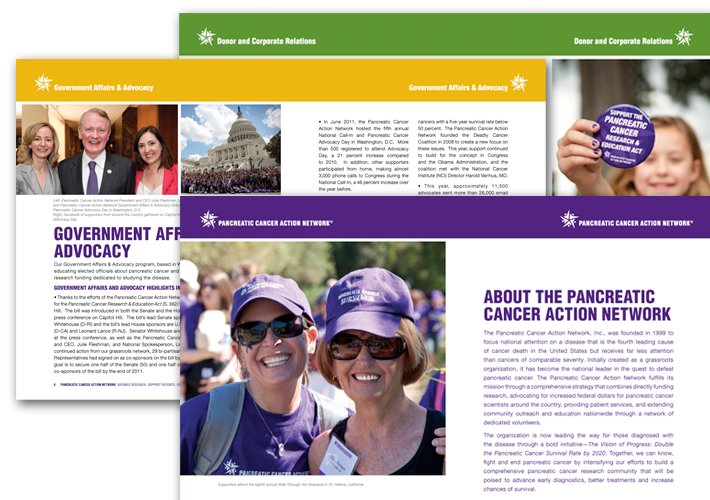 Pancreatic Cancer Action Network annual report design
