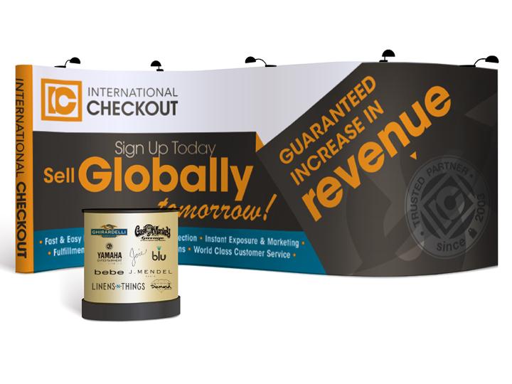 International Checkout tradeshow booth design