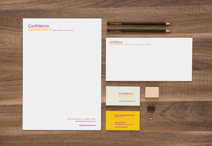 Branding and identity set for Confidence Connections