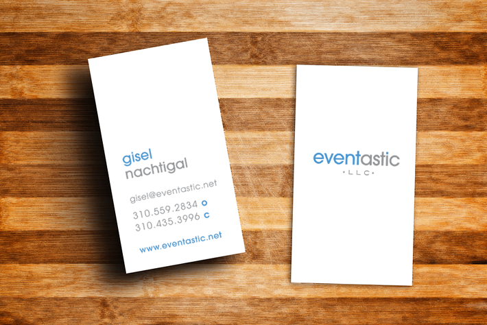 Logo and business card design for Eventastic
