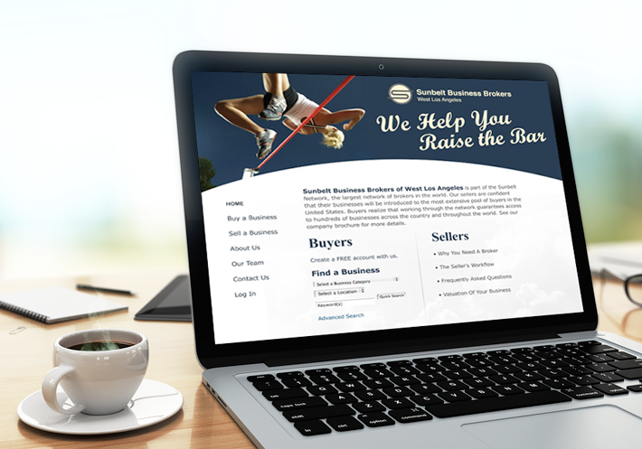 Website design for Sunbelt Business Brokers of West Los Angeles