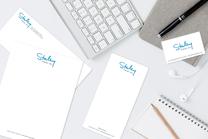 Staley Fresh Inc. logo and branding design
